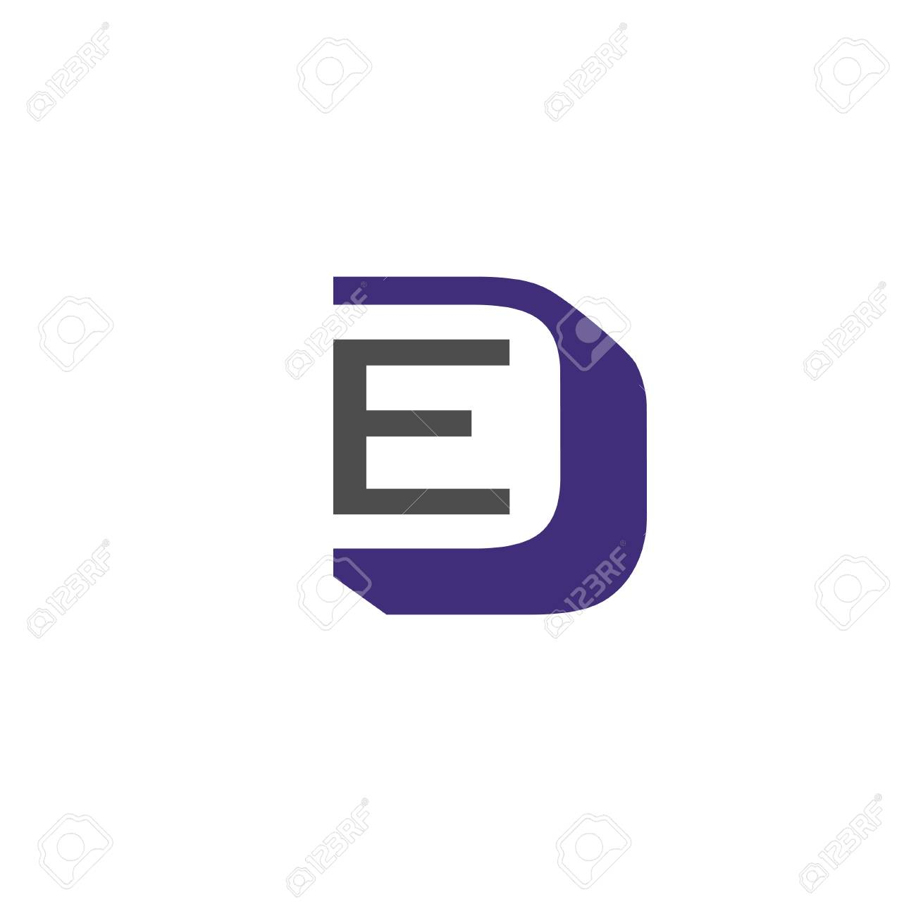 ed letter logo design vector illustration template e letter logo vector letter e and