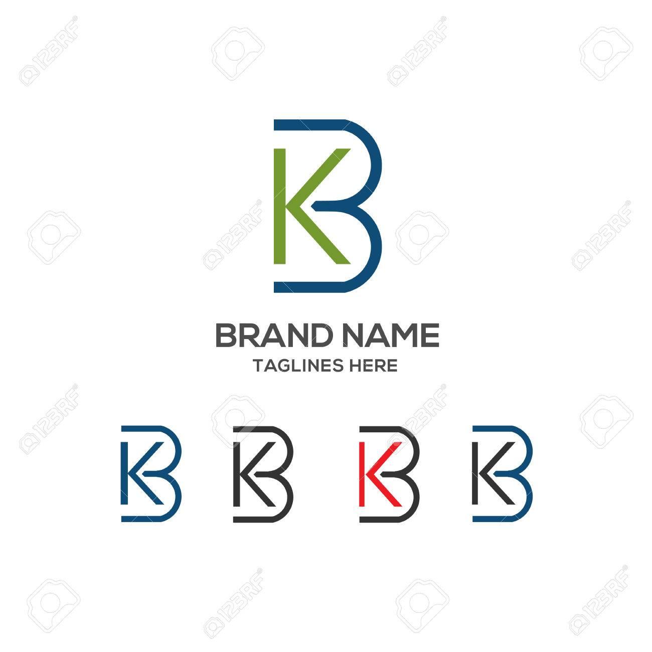 kb letter logo design vector illustration template k letter logo