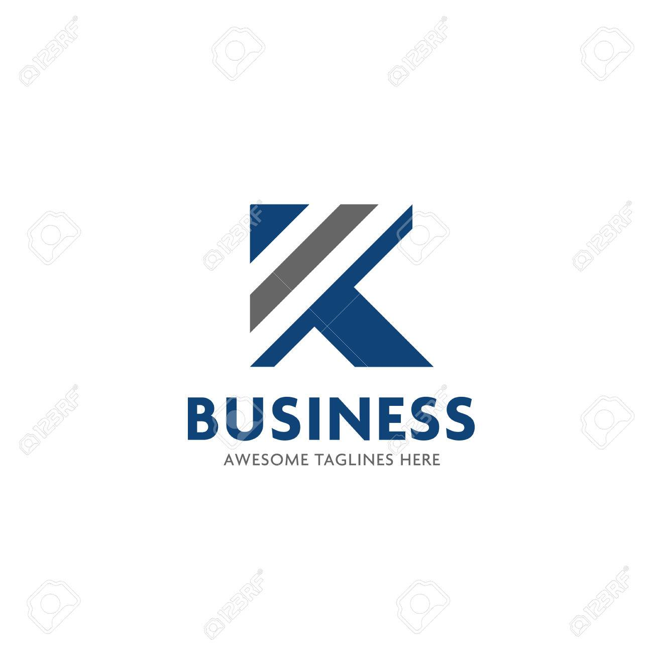 Letter K Stripes Logo Design Vector Illustration Template, Letter ...