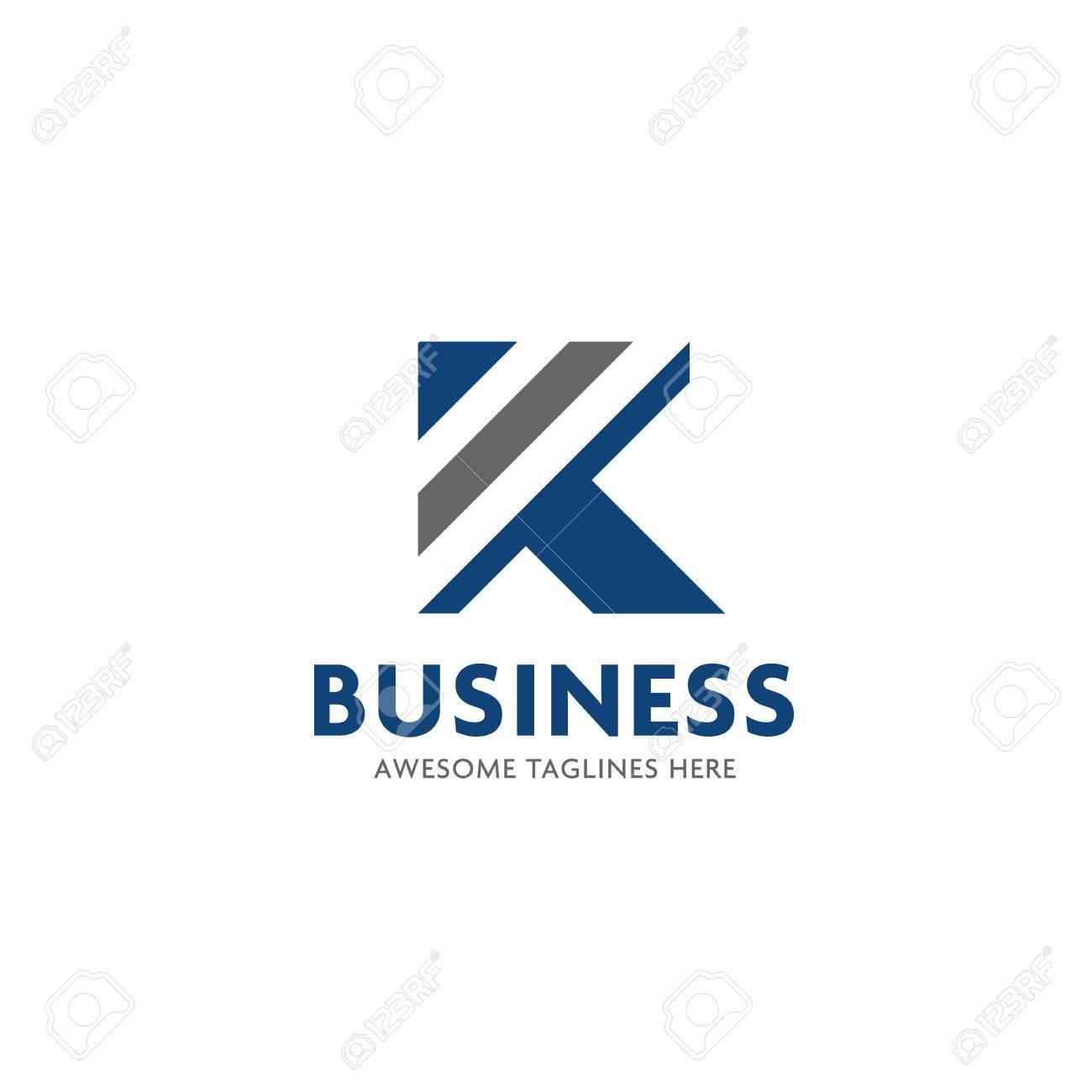 Lettre K Rayures Logo Design Modèle D'illustration Vectorielle ...