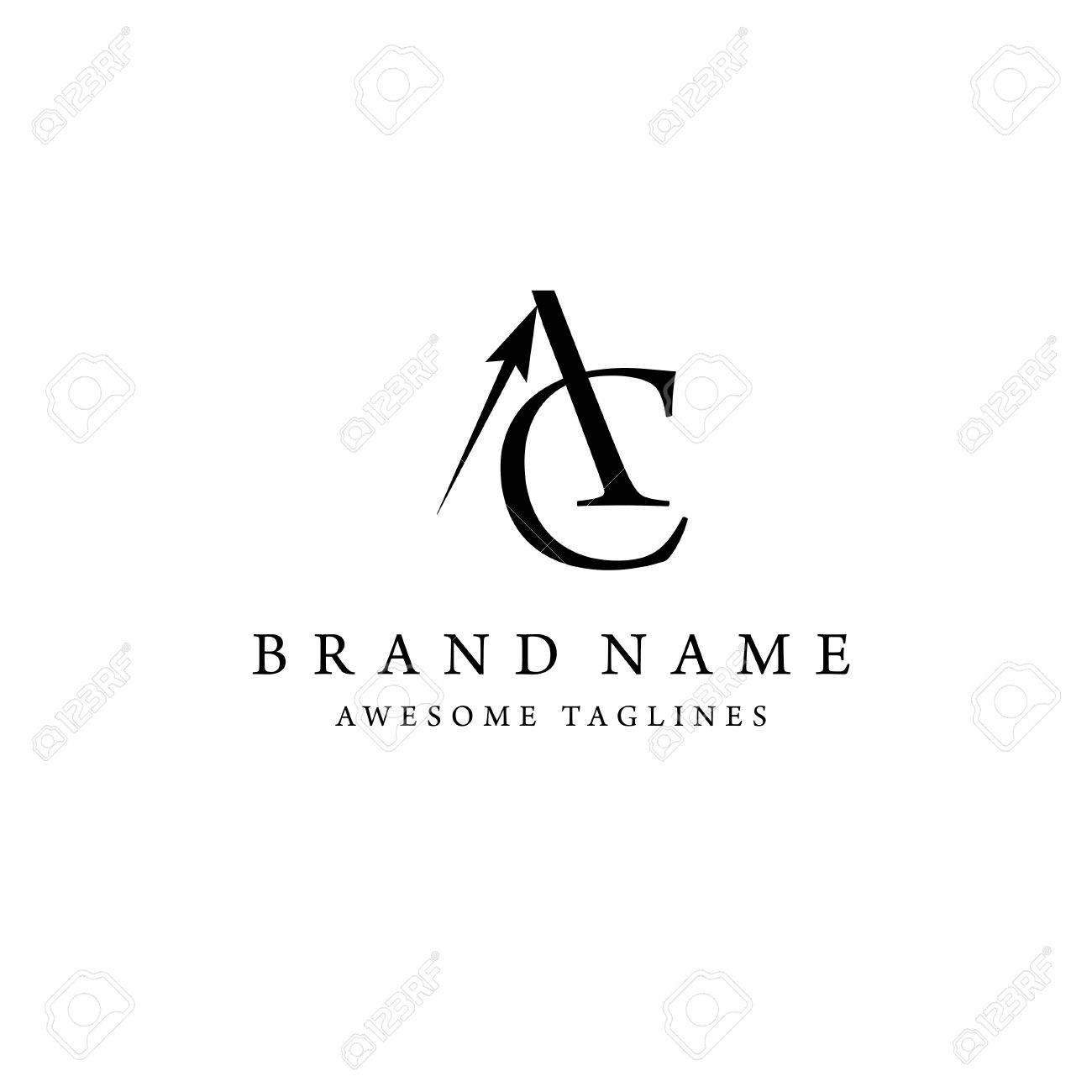 elegant and classy AC letter , Letter A&C logo vector, creative