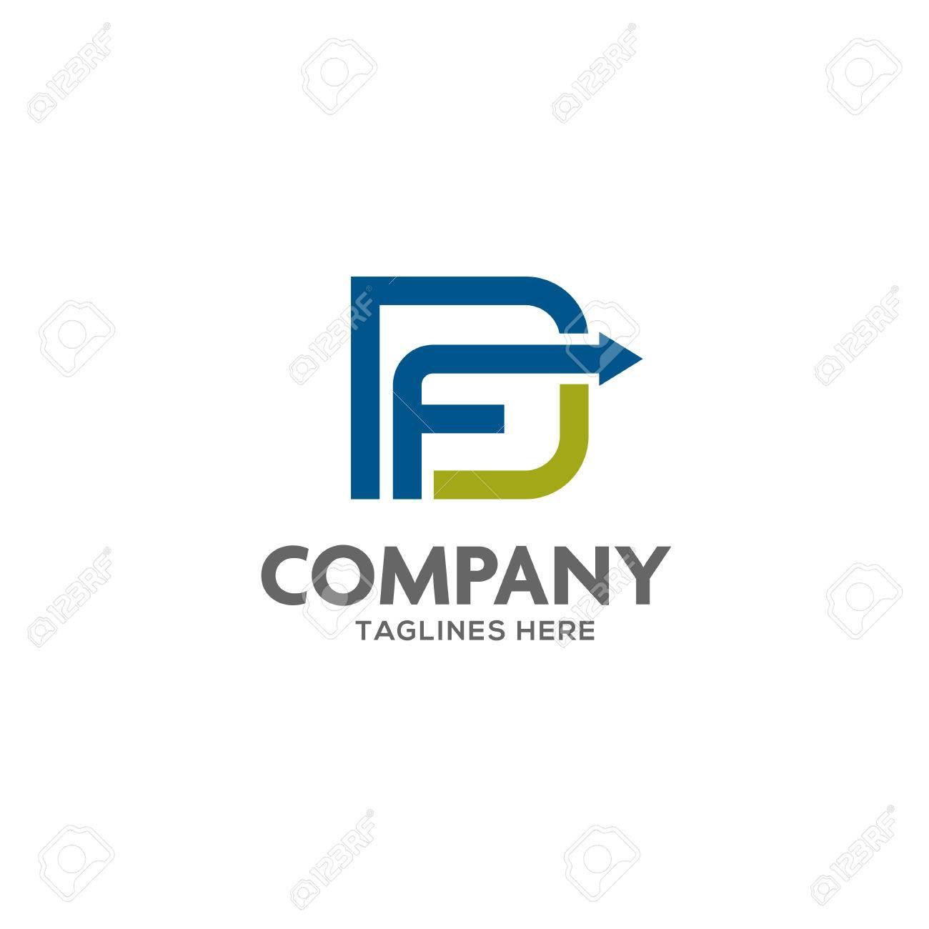 fd letter logo design vector illustration template f letter logo vector letter f and