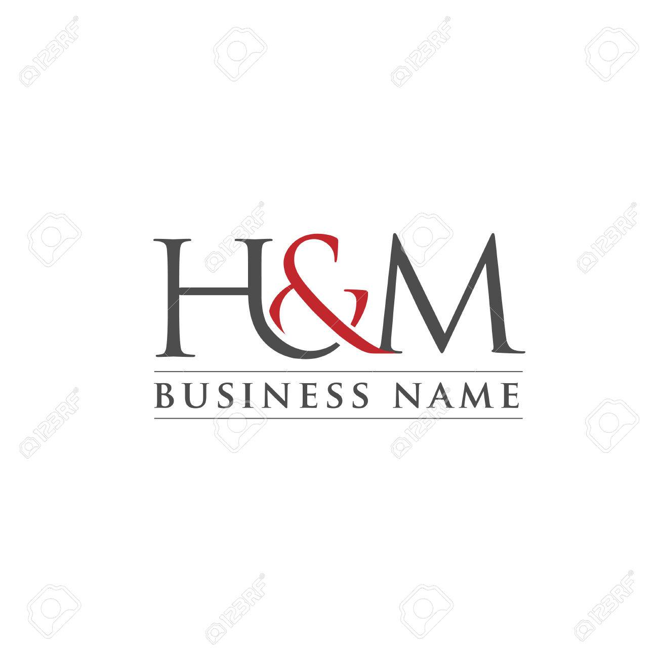 letter h and m logo vector illustration template letter hm trend logo vector creative