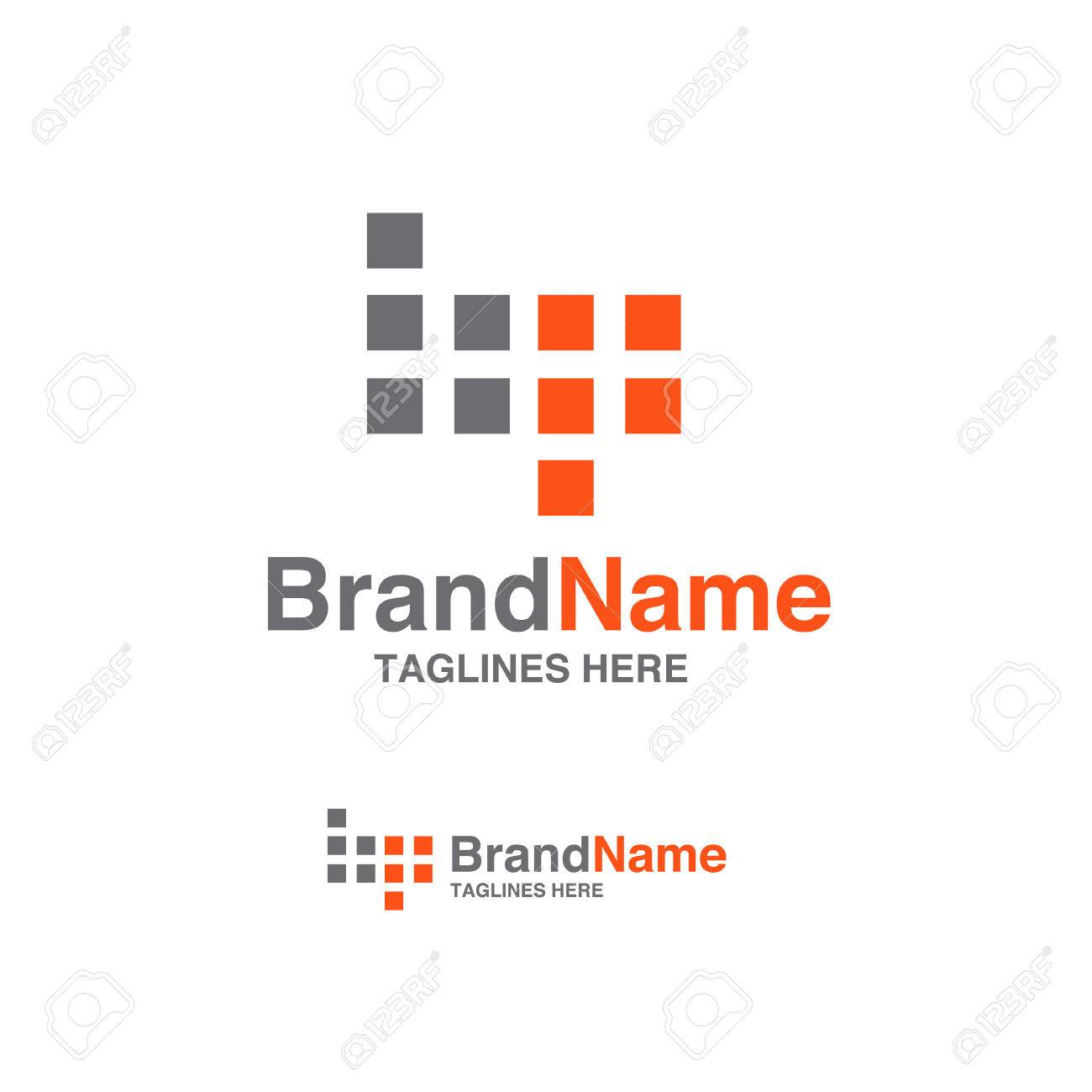 BP Letter Logo Square Block Design Vector Illustration Template ...