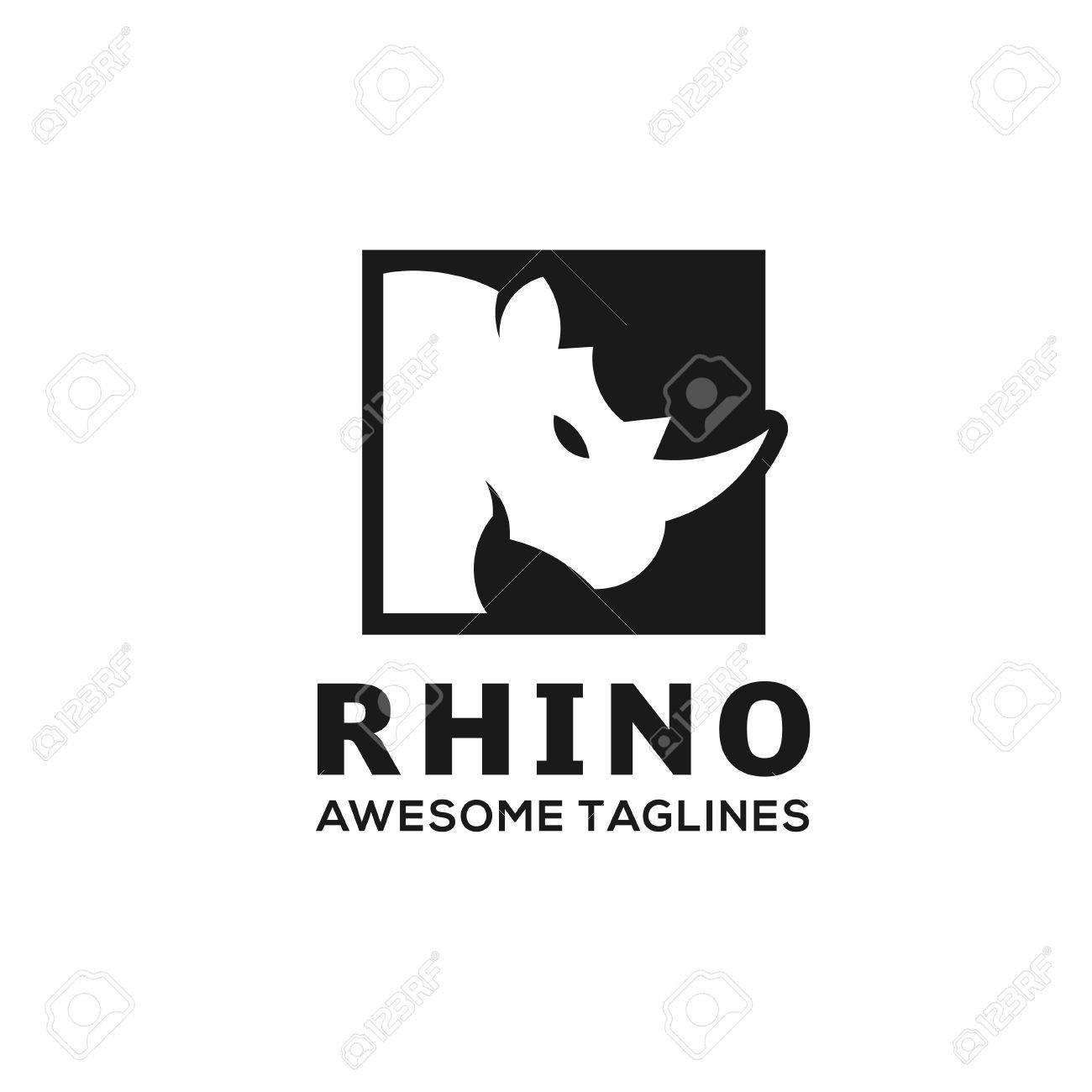 Rhinoceros, Rhino Logo  Business template, Rhinos head logo for