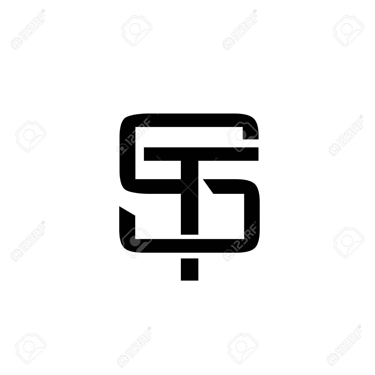 Letter St Monogram Logo Design Vector Illustration Template