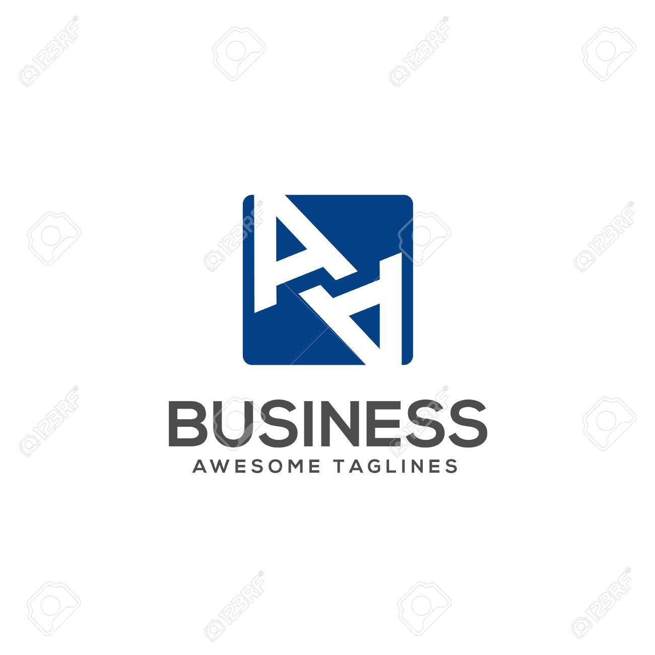 Aa Letter With Square Background Logo Design Vector Illustration Royalty Free Cliparts Vectors And Stock Illustration Image 87330074