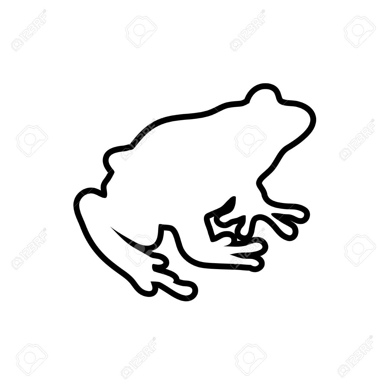 Frosch Linien Vektor-Illustration. Färbung Für Erwachsene Kröte ...