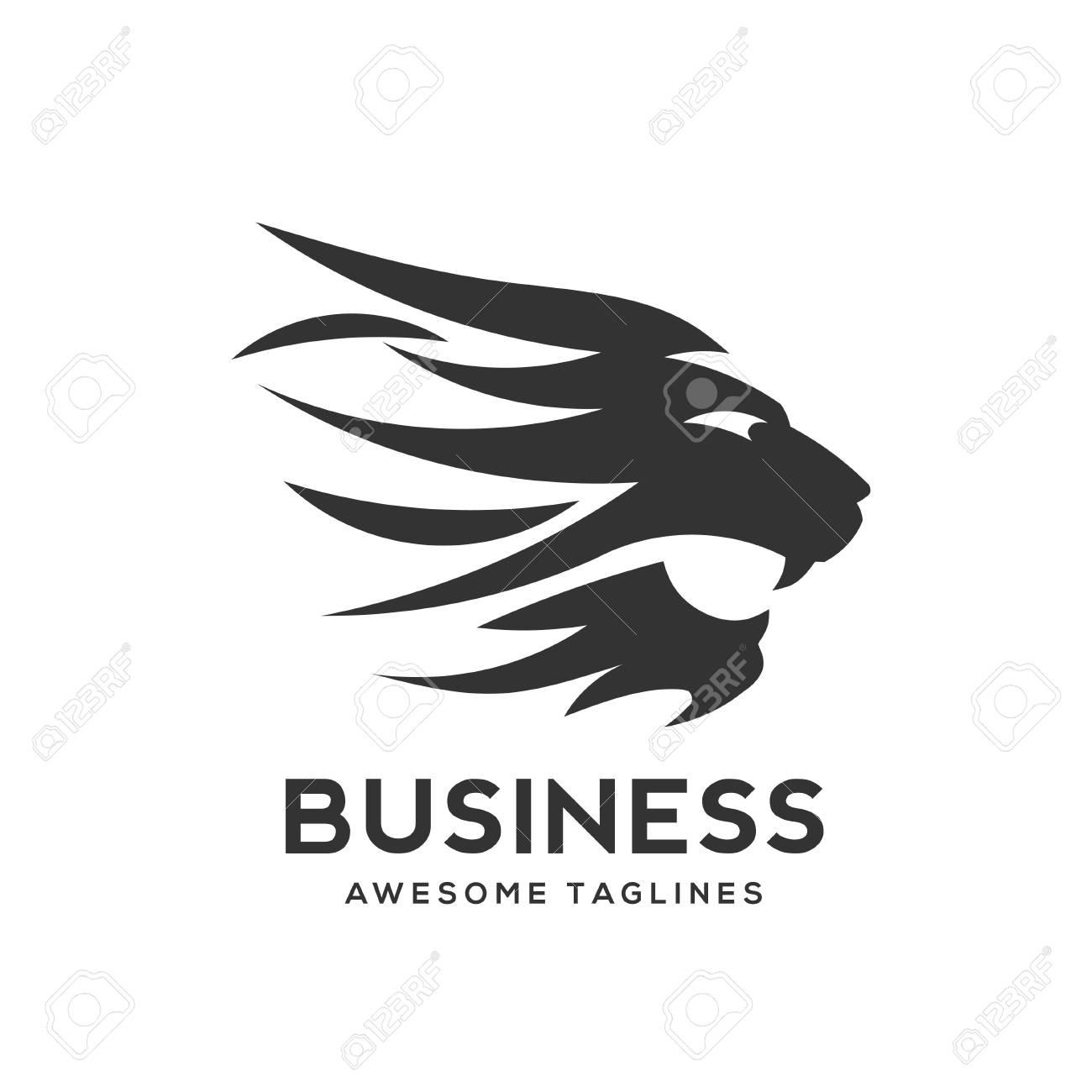 best Lion head logo vector - lion vector concept illustration