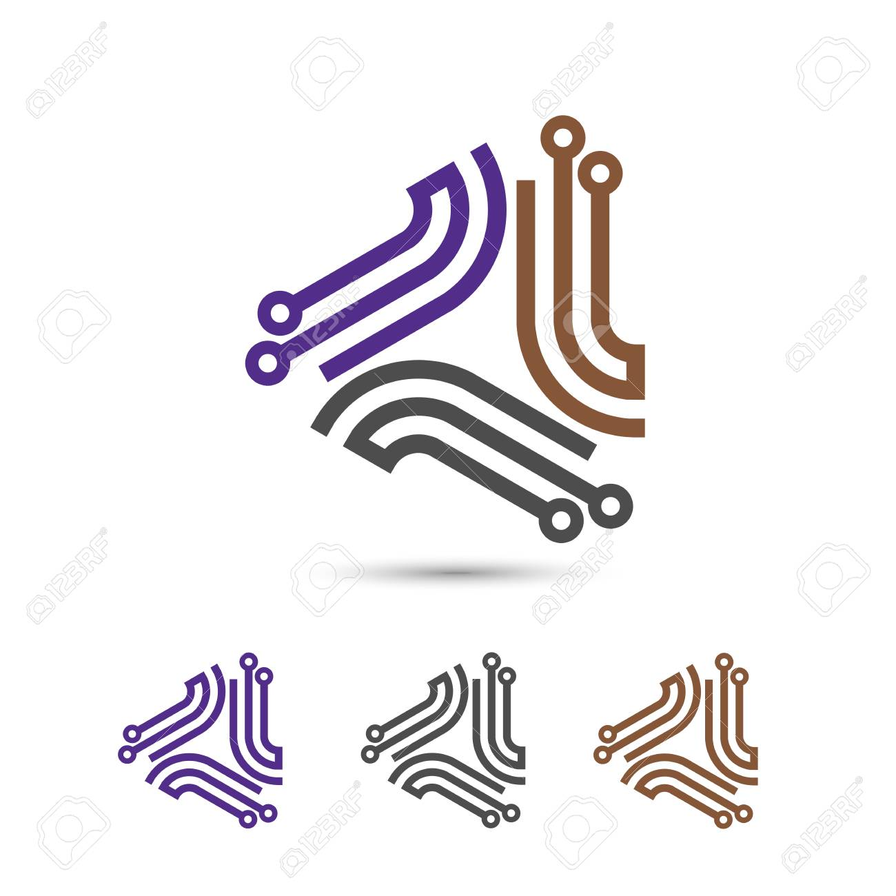 Digital Electronics Design Creative Electronic Circuits Icon It Technology Concept Stock Vector 89208678