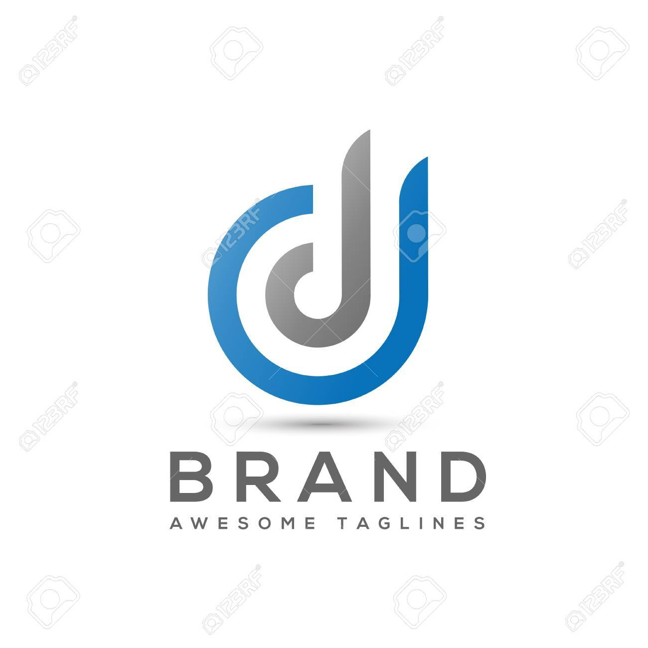 abstract letter d logo design template elements abstract letter ddbusiness corporate letter dd