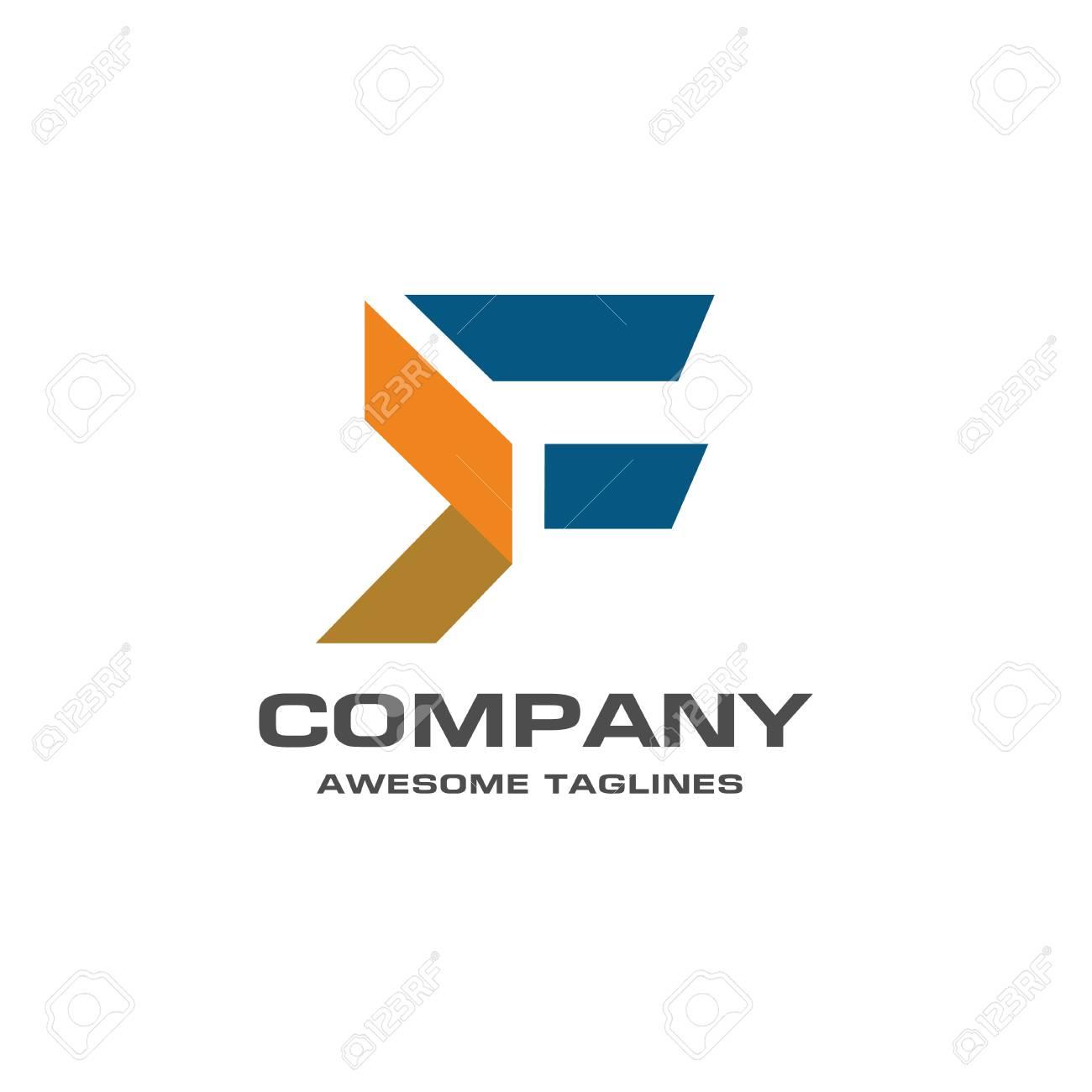 unique letter f creative logo template vector illustration logo for corporate identity of company of