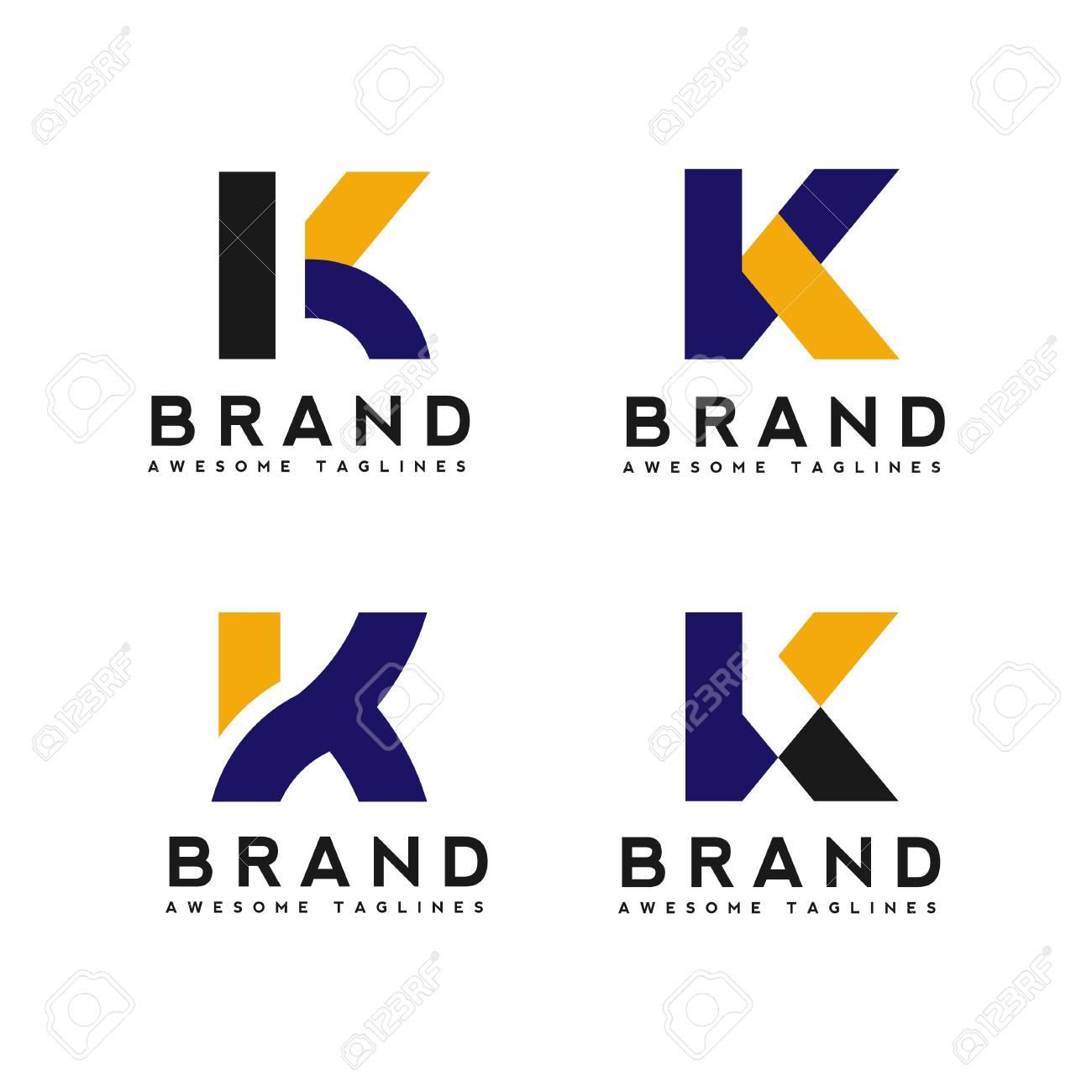 letter k logo simple design template vector illustration set stock vector 95970968