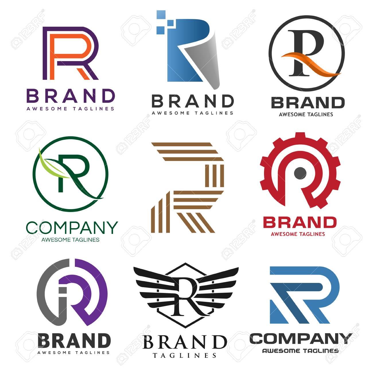 letter r logo template  creative letter R logo, best letter R logo design set, Abstract..
