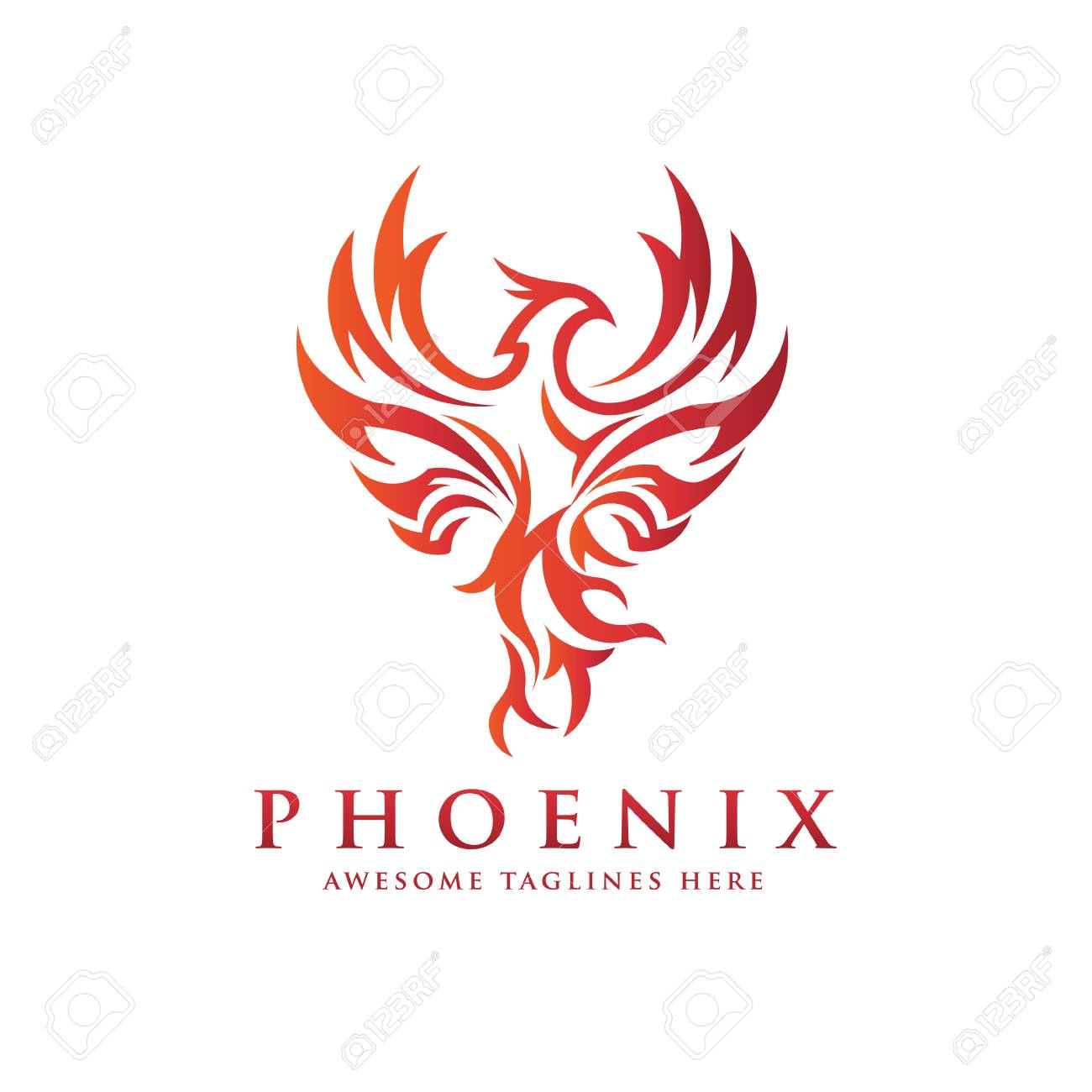 Fabulous Luxury Phoenix Logo Concept Best Phoenix Bird Logo Design Phoenix Interior Design Ideas Inesswwsoteloinfo