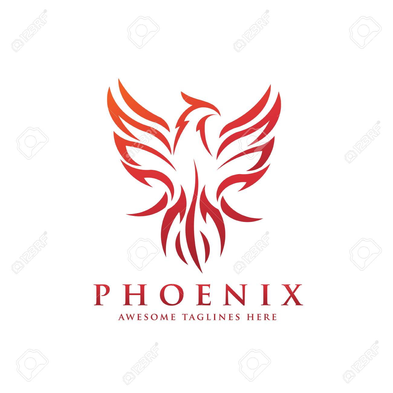 Awesome Luxury Phoenix Logo Concept Best Phoenix Bird Logo Design Phoenix Interior Design Ideas Inesswwsoteloinfo