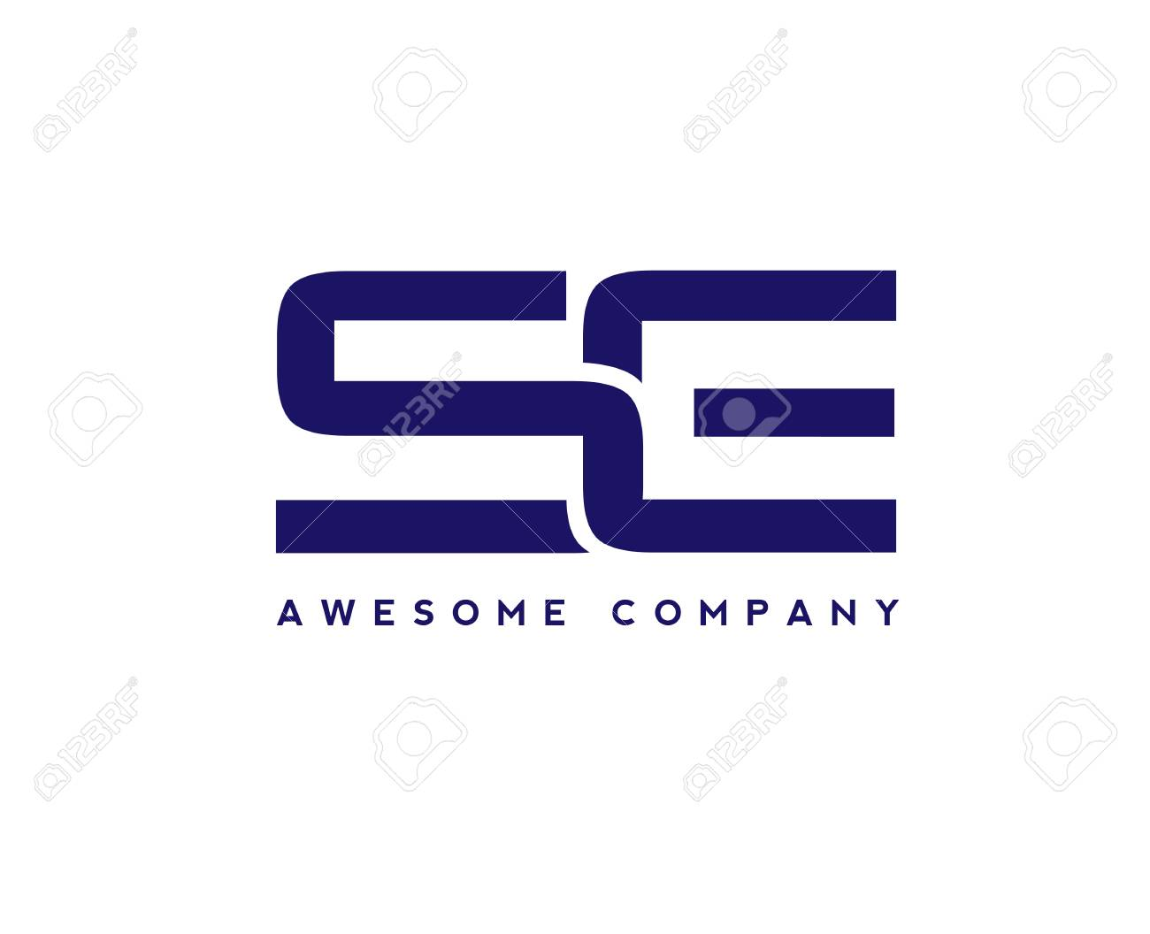 creative letter se logo design elements simple letter s and