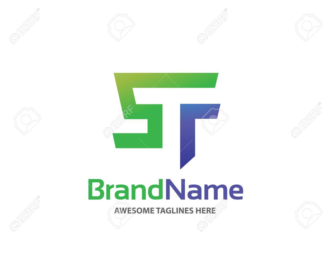 Letter St Logo Design Vector Illustration Template Letter S