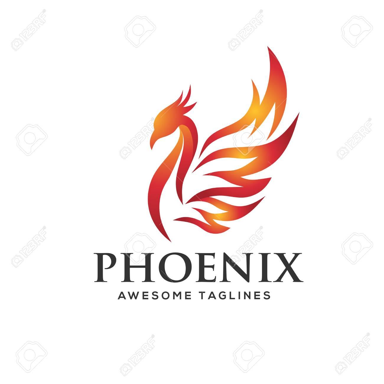 Incredible Luxury Phoenix Logo Concept Best Phoenix Bird Logo Design Phoenix Interior Design Ideas Inesswwsoteloinfo