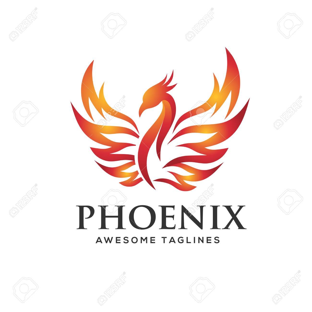 Awe Inspiring Luxury Phoenix Logo Concept Best Phoenix Bird Logo Design Phoenix Interior Design Ideas Inesswwsoteloinfo