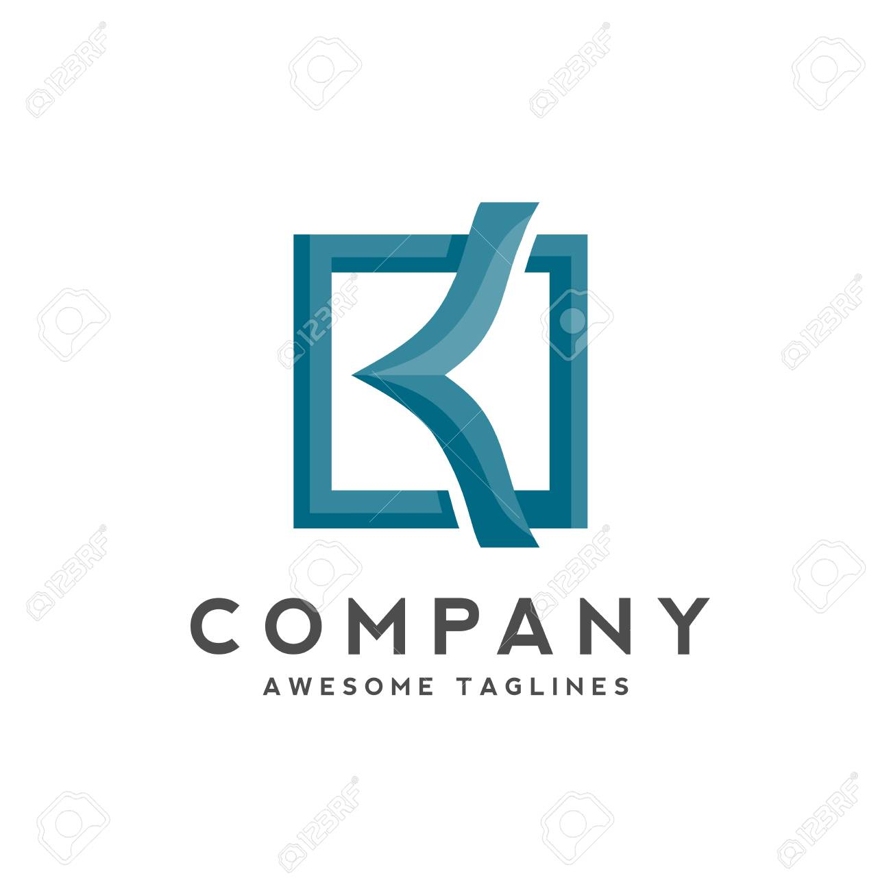 Creative Initial Letter K With Square Design Colorful Logo Vector