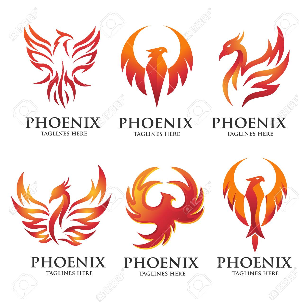 Enjoyable Luxury Phoenix Logo Concept Best Phoenix Bird Logo Design Phoenix Interior Design Ideas Inesswwsoteloinfo