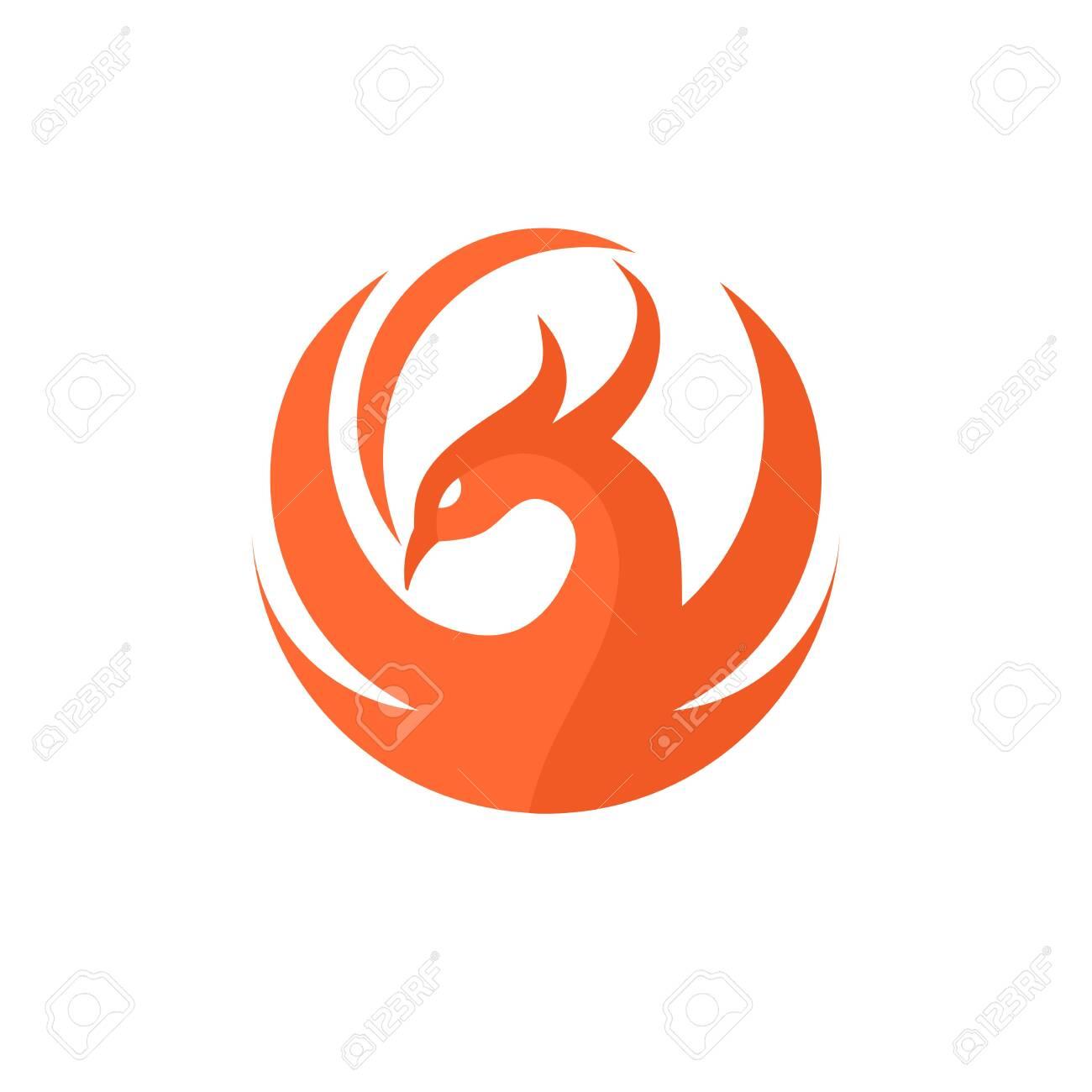 Phoenix Circle Logo Vector Best Circle Phoenix Bird Logo Design Royalty Free Cliparts Vectors And Stock Illustration Image 123982170