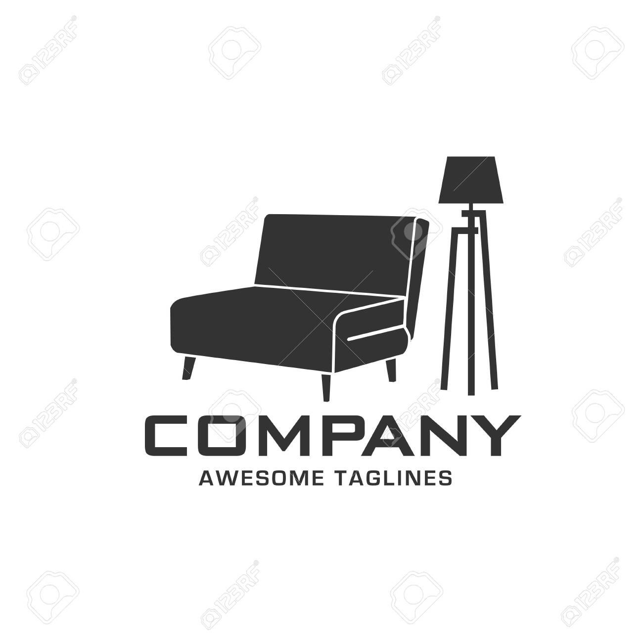 Magnificent Creative Simple Sofa And Lamp For Furniture Logo Company Unemploymentrelief Wooden Chair Designs For Living Room Unemploymentrelieforg
