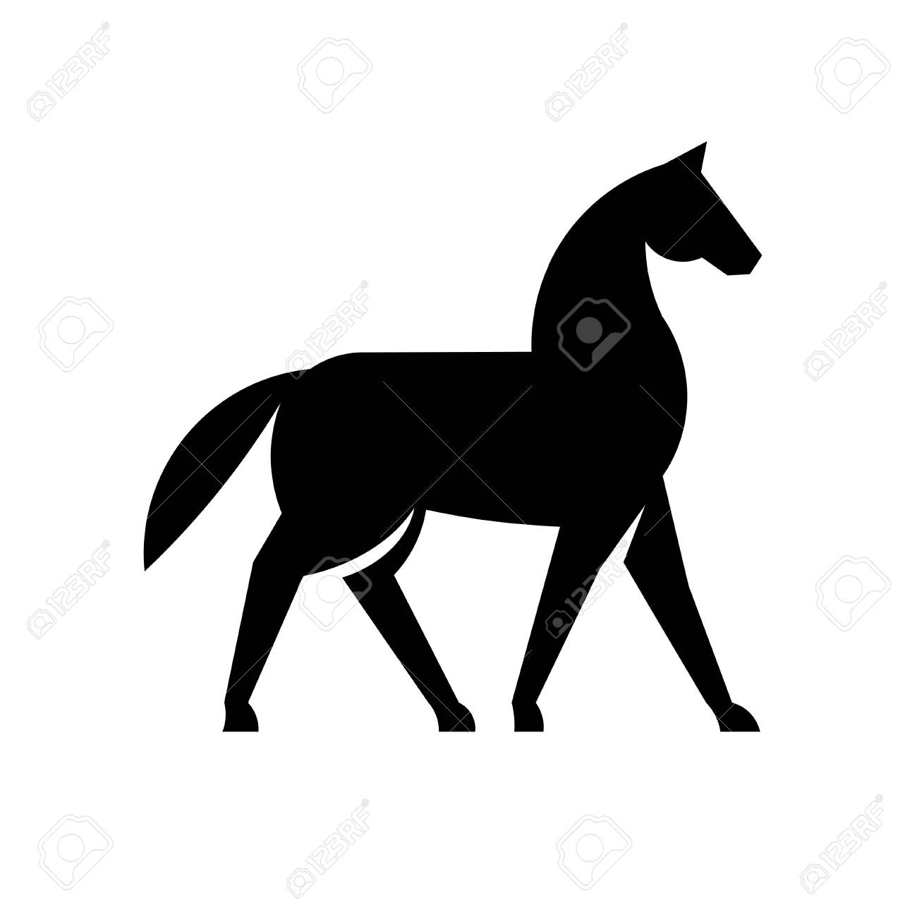 Simple And Memorable Horse Silhouette Logo Design Vector Royalty Free Cliparts Vectors And Stock Illustration Image 130843445