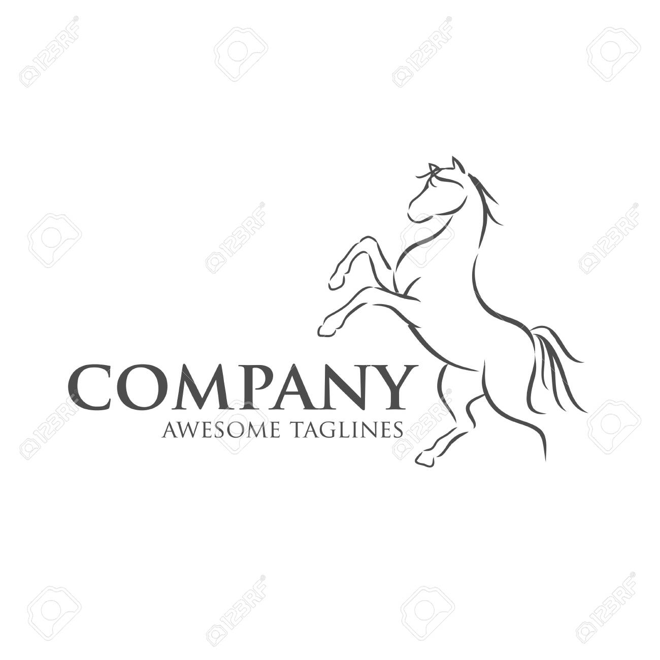 Simple Horse Vector Illustration Best For Sport Races Logo Royalty Free Cliparts Vectors And Stock Illustration Image 137539134
