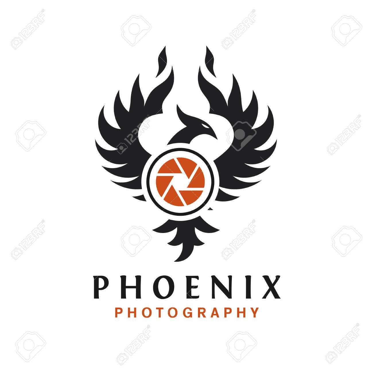 Phoenix Photography Logo Design Camera Logo With Phoenix Bird Royalty Free Cliparts Vectors And Stock Illustration Image 138772878