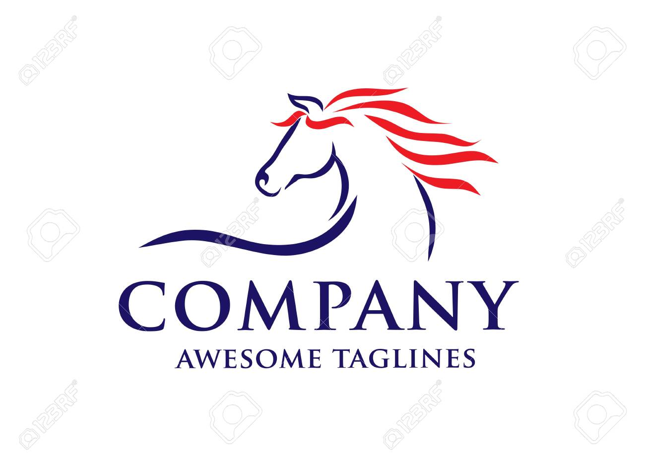 Simple Horse Sketch Racing Logo Template Equestrian Logo Vector Royalty Free Cliparts Vectors And Stock Illustration Image 139214579