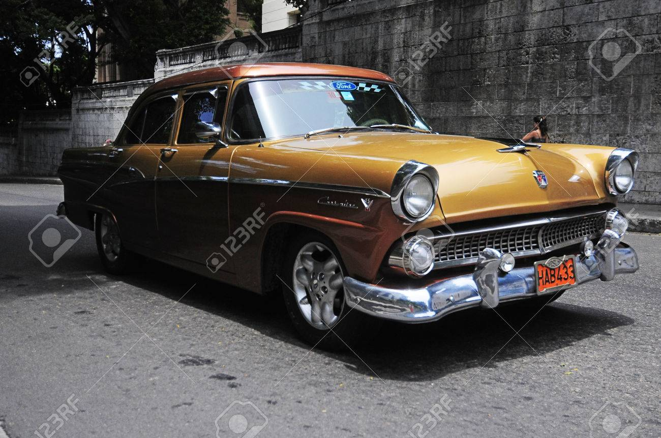 CUBA, HAVANA - JUNE 26, 2013: Beautiful Renovated Classic Old ...
