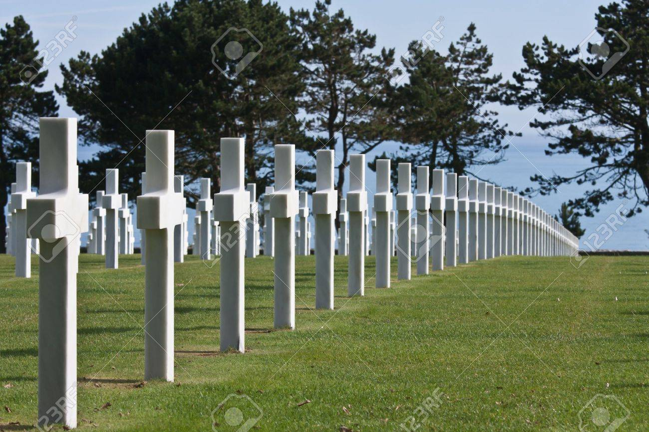 American WWII cemetery in Normandy, France - 7481757