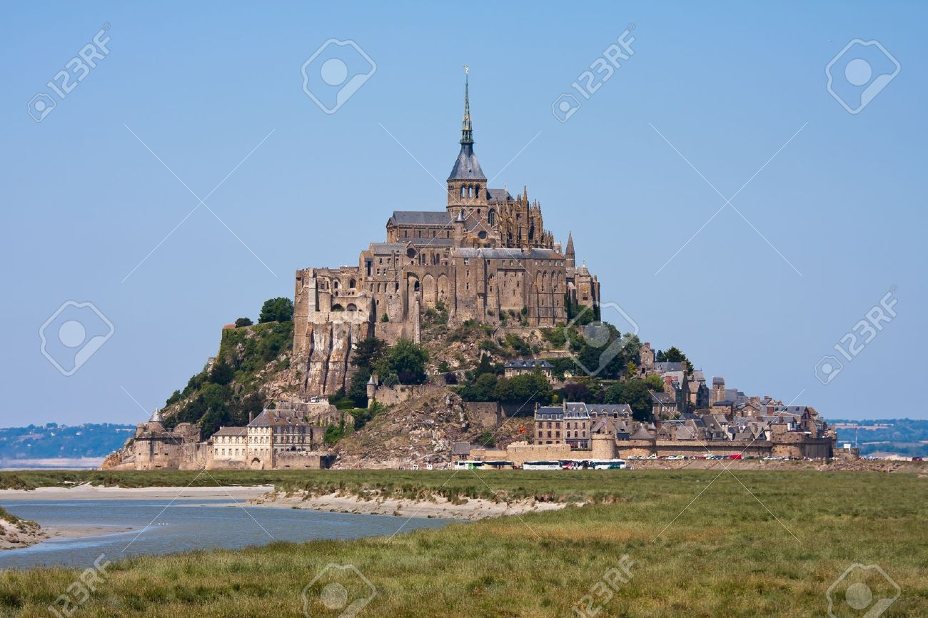 Saint Mont Michel, medieval abbey in Bretagne, France Stock Photo - 7778777