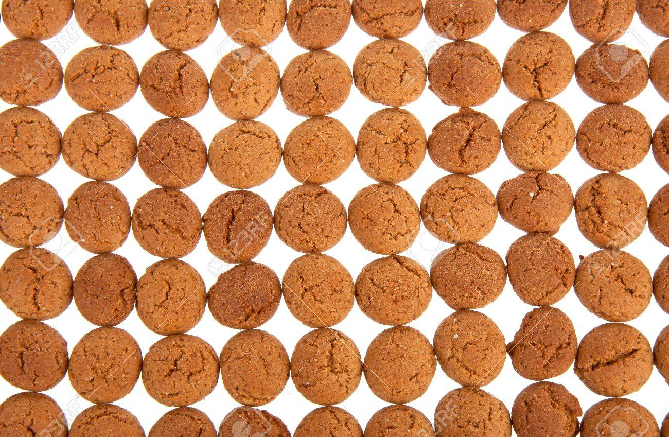 Background of ginger nuts, Dutch sweets for the celebration of Sinterklaas at 5 december Stock Photo - 11393229