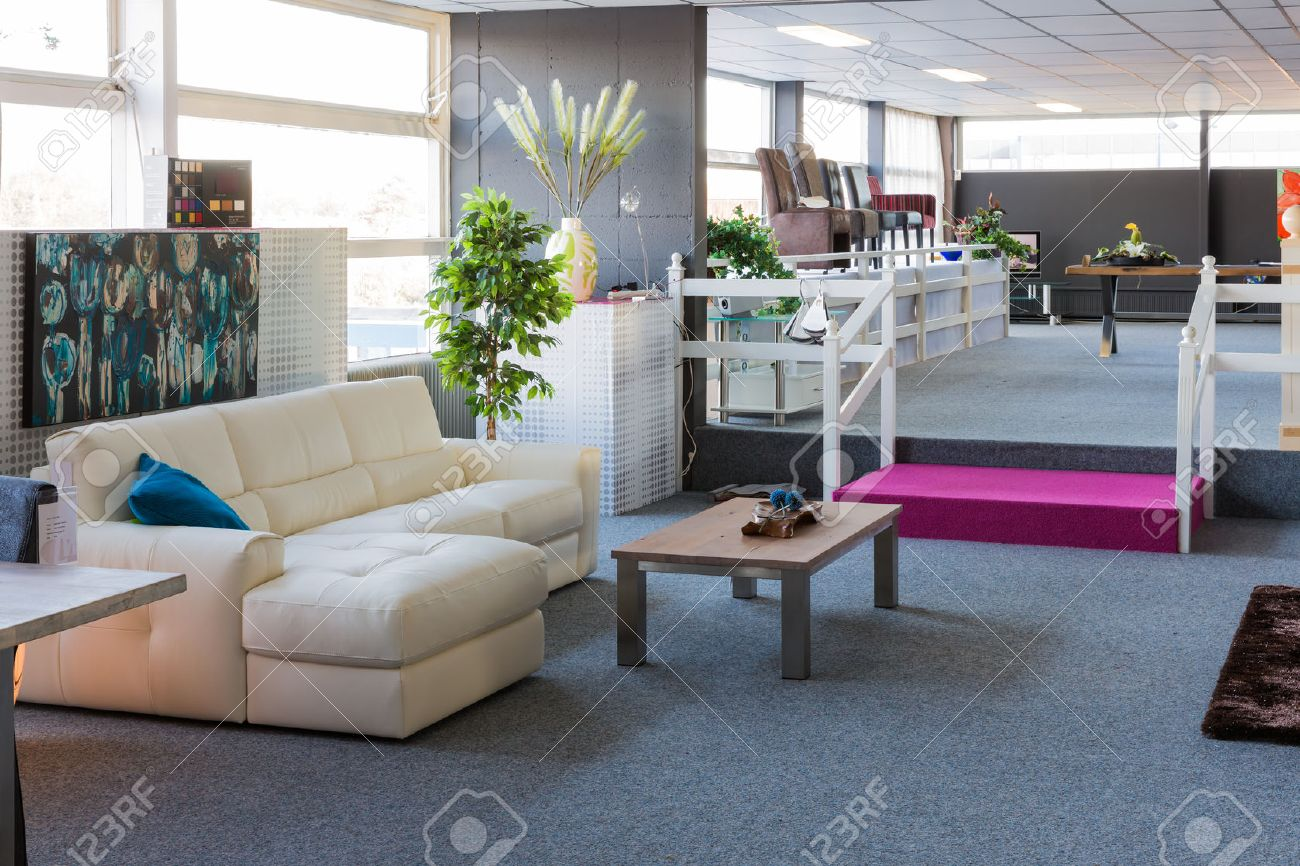Showroom Of Modern Furniture Store Stock Photo Picture And