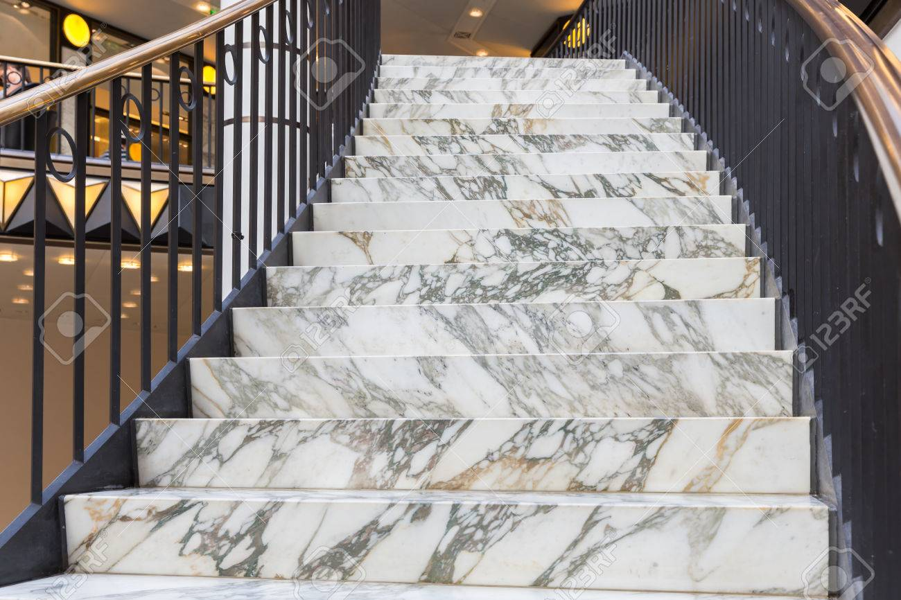 Art Deco Marble Stairs Stock Photo   24877757