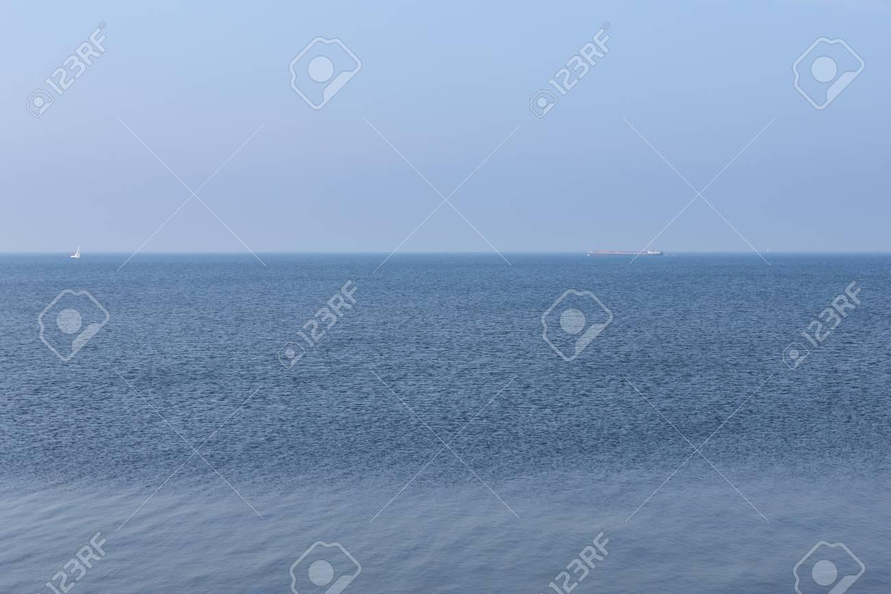 Endless Dutch sea with blue sky Stock Photo - 27368259