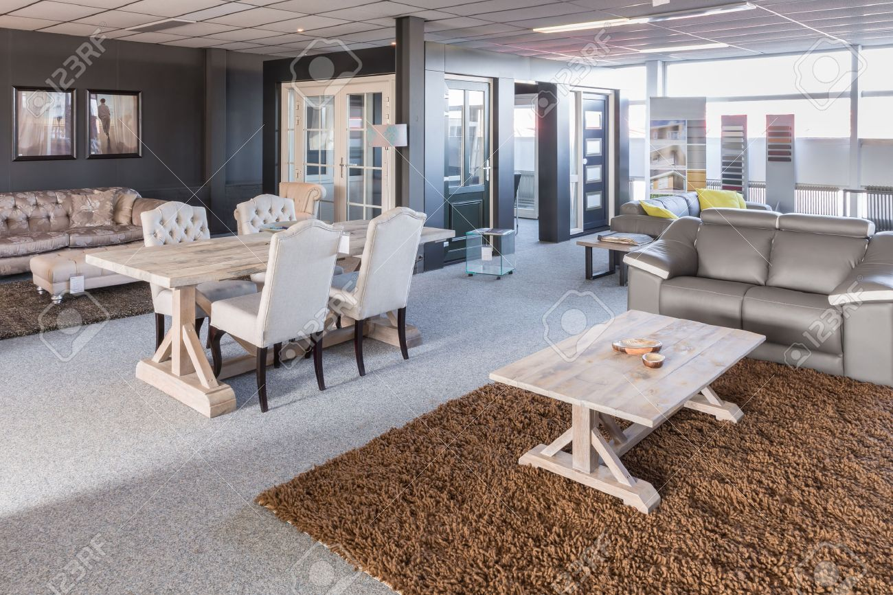 Showroom of modern furniture with tables and chairs - 28436972