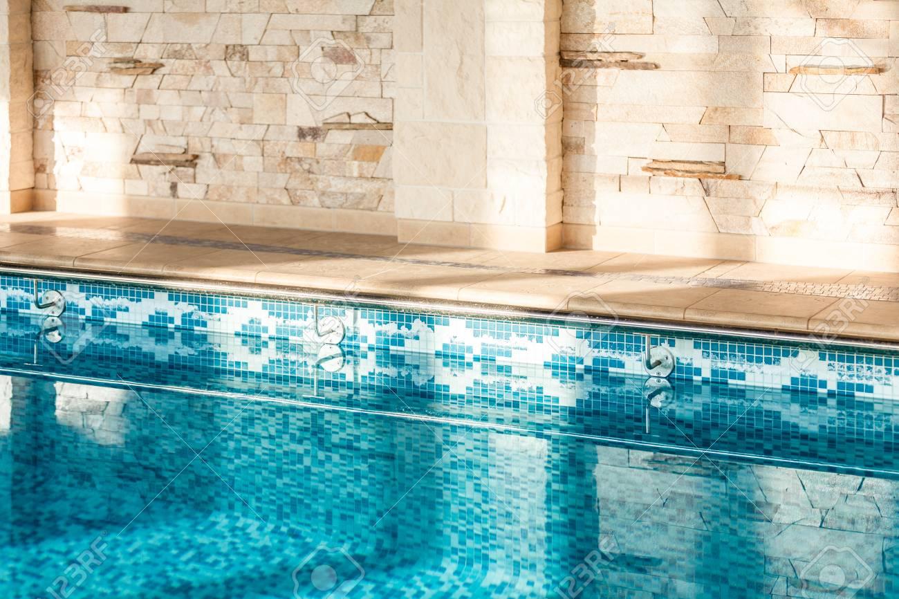Horizontal shot of indoor swimming pool - 33991450