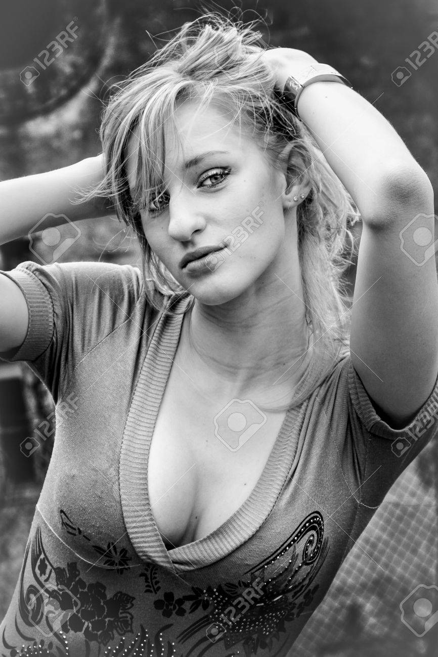 Sexy girl breast photography