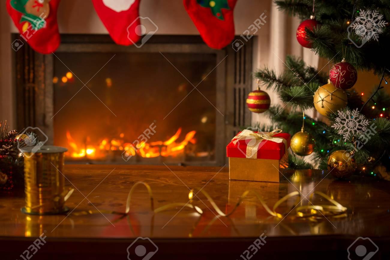 Beautiful Christmas Background Images.Beautiful Christmas Background With Burning Fireplace Christmas