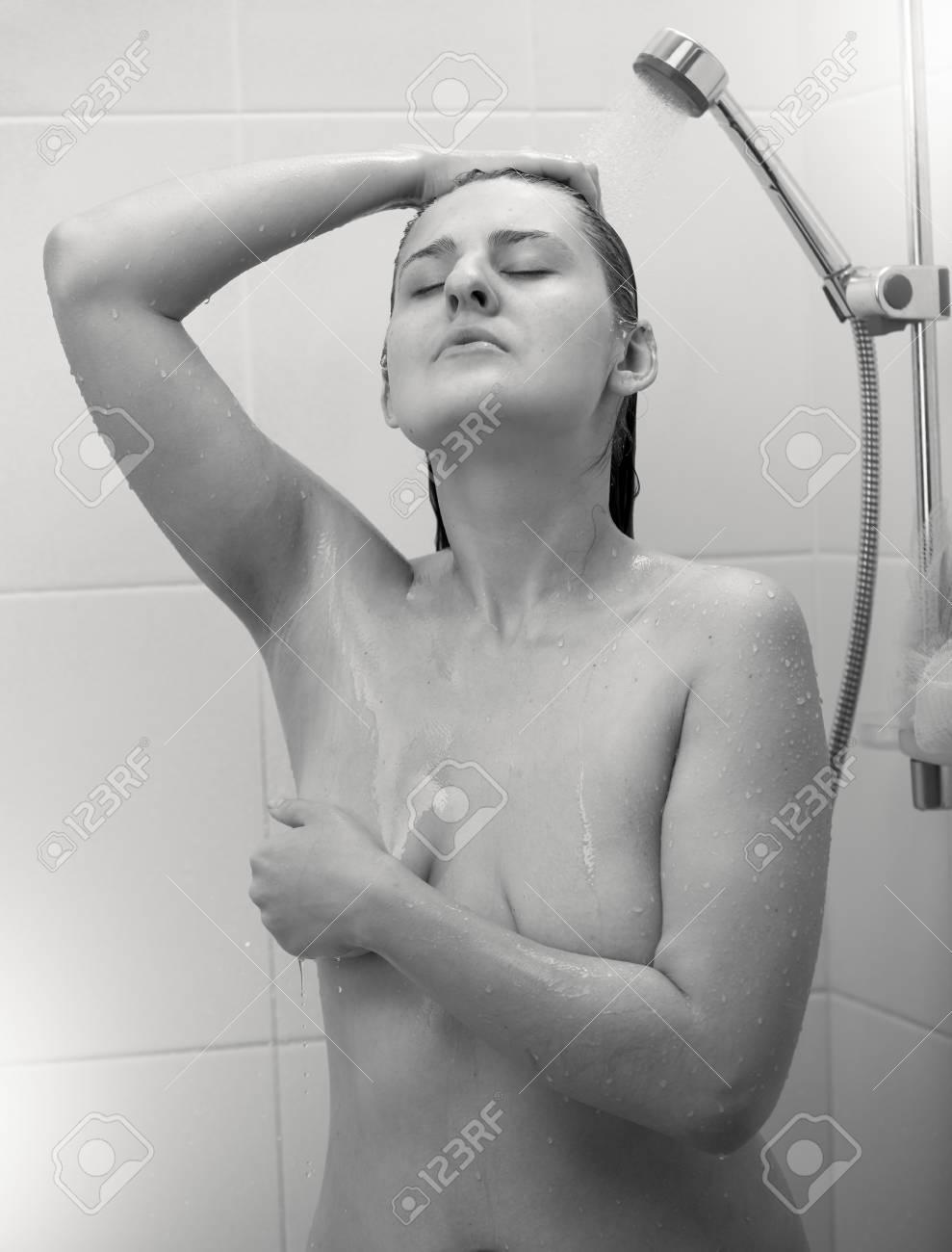 Sexy black girls under shower