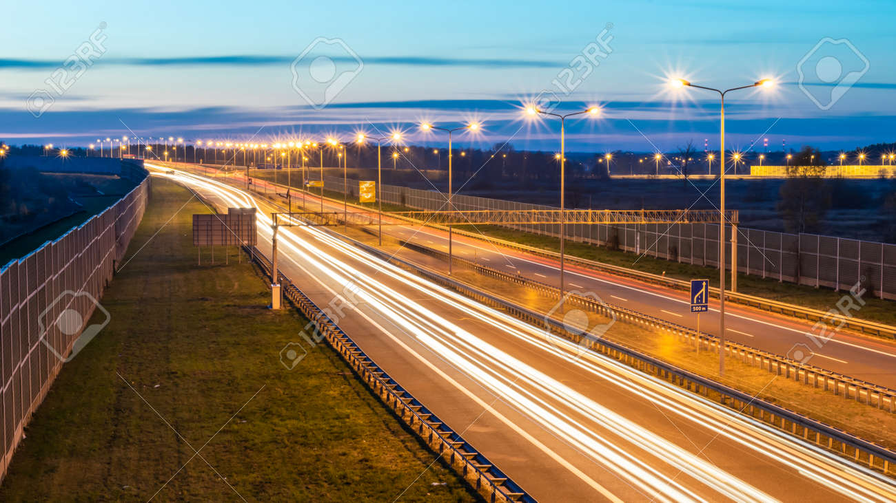 lights of cars with night - 135627502