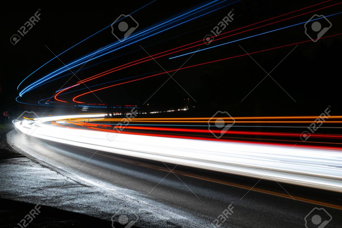 lights of cars with night - 135500549