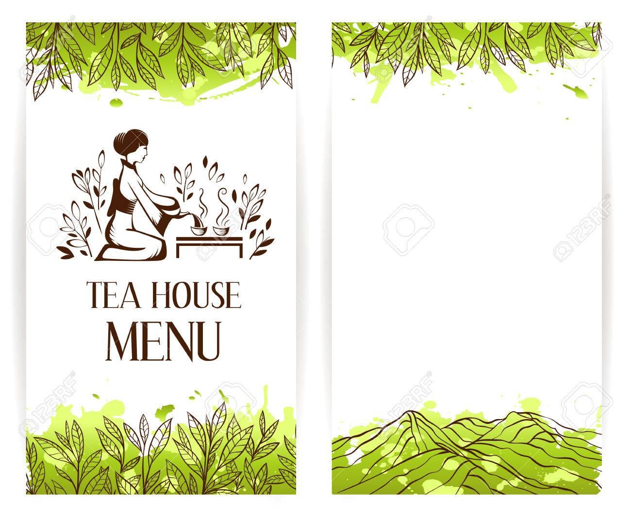 Green tea menu template. Japanese tea ceremony logo. Tea banner collection. - 62599826
