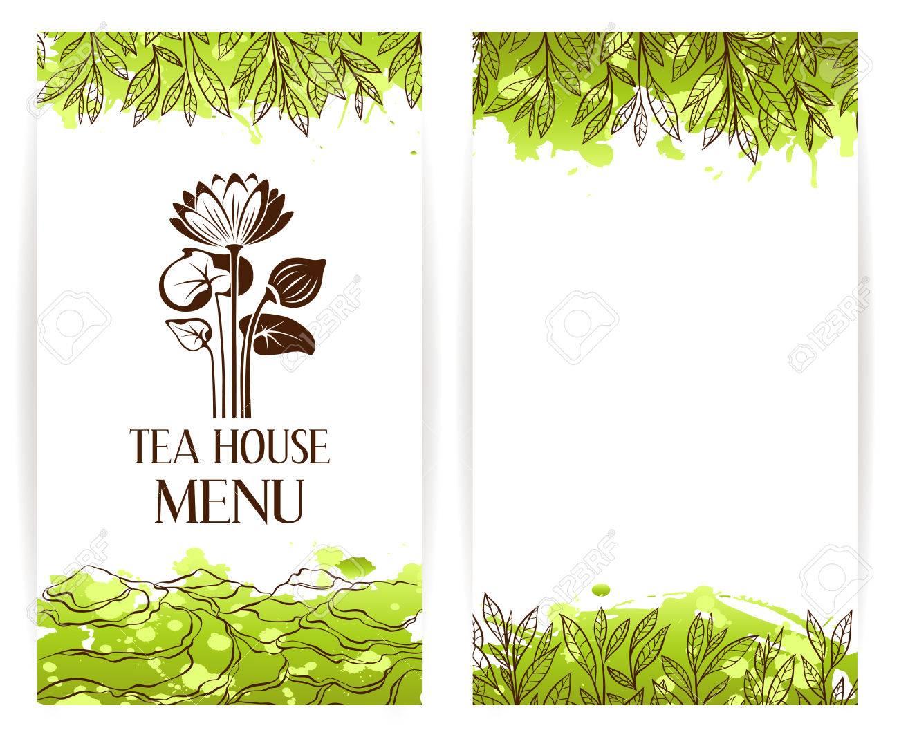 Green Tea Menu Template Lotus Flouwer Logo Tea Banner Collection Royalty Free Cliparts Vectors And Stock Illustration Image 62599827