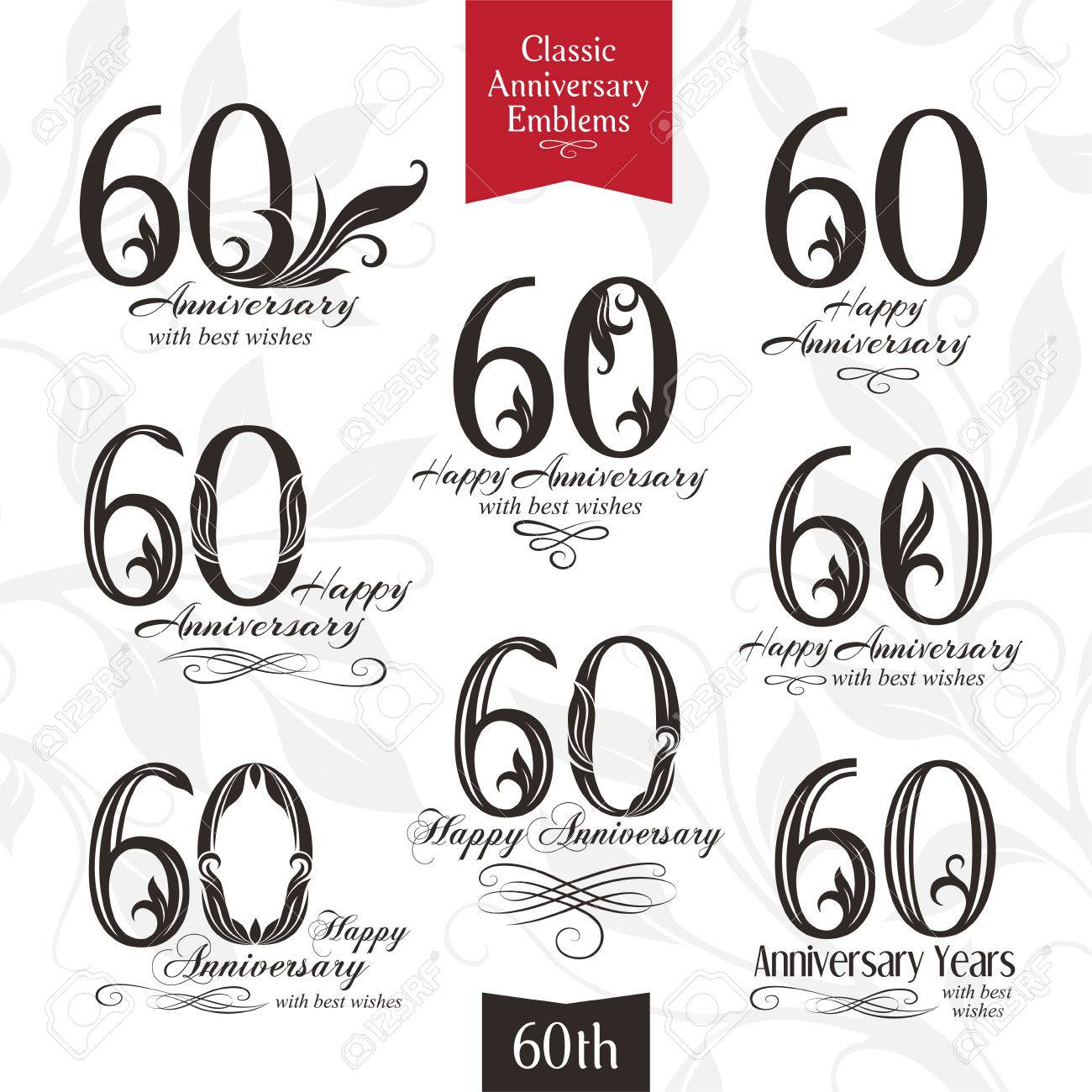 60th anniversary emblems templates of anniversary birthday 60th anniversary emblems templates of anniversary birthday and jubilee symbols stock vector 62600275 biocorpaavc Choice Image
