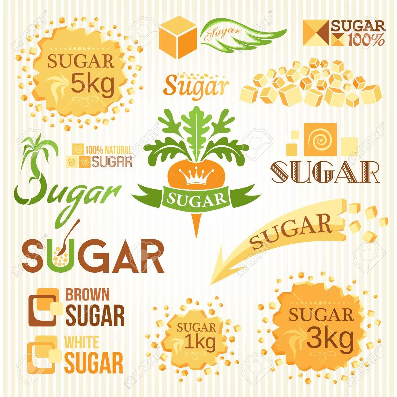 Sugar decoration set. Labels, icons and emblems - 62600933